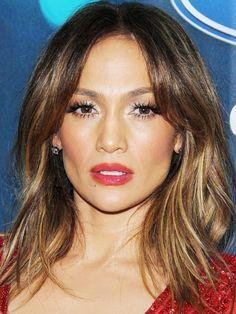 layered haircut on Jennifer Lopez