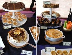 Harry Potter Wedding Shower - Treacle Tarts, Cauldron Cakes, Pumpkin Fudge and Pumpkin Pasties - DolledUpDesign