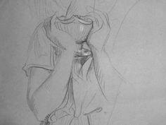 CHASSERIAU Théodore,1843 - Ste Marie l'Egyptienne, Légende, Etude pour l'Eglise St-Merri - drawing - Détail 03