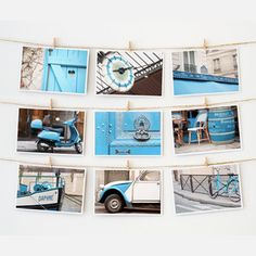Paris Postcard Collection Blue, $12.50, now featured on Fab.