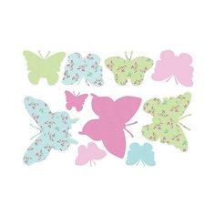 WallPops! Butterflies Maxi Stickers ($27) ❤ liked on Polyvore featuring home, home decor, office accessories, colored stickers, butterfly stickers and pink office accessories