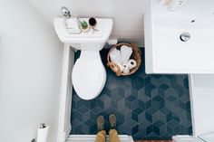 #hellorefuge #master #bathroom #renovation #mutinatex #tile #wallmountedsink