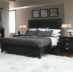 Grey and Black bedroom! Inspiration for my own room.