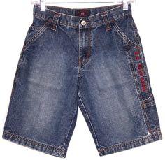 Boys US Polo Assn Distressed Cargo Denim Jean Shorts Size 10 #USPoloAssn #Everyday
