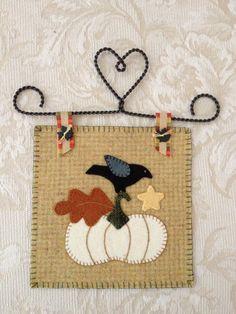 Autumn wool applique