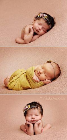 newborn newborn-photography-- love baby headband. Love sweet baby girl with adorable dark hair.
