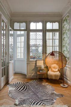 Couloir Appartement parisien 240m2- GCG Architectes