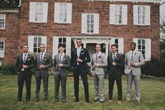 coordinating NOT MATCHING groom and groomsmen