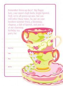 vintage tea party invitations  free printable tea party invite, party invitations