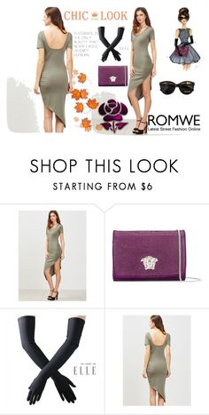 """""""Romwe"""" by elza-345 ❤ liked on Polyvore featuring Versace, Black and Max&Co."""