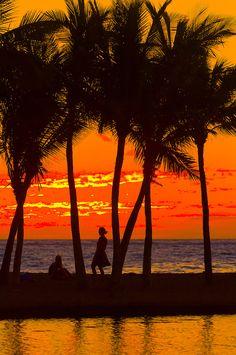 Sunset, Anaehoomalu Bay, Waikoloa Beach Marriott Resort & Spa, Waikola ~ The Big Island of Hawaii