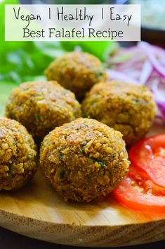 This falafel pita with vegan tzatziki is crispy on the outside and fluffy on the inside with the perfect spices (in Spanish) Salsa Tzatziki, Vegan Tzatziki, Tzatziki Sauce, Super Healthy Recipes, Healthy Foods To Eat, Healthy Eating, Mexican Food Recipes, Vegetarian Recipes, Cooking Recipes