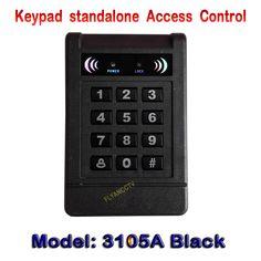 Black 125KHz Rfid EM cards Single Door RFID Access Controller With Keypad Standalone Home Security System 125Khz Keypad
