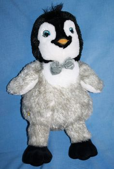 "Build a Bear Penguin light up bow tie Happy Feet Two plush stuffed soft toy 17"" #BuildABear #AllOccasion"