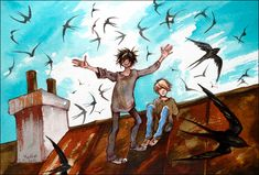 On the roof by Meeth0s on deviantART