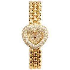 Chopard  Gold Diamond Heart Watch