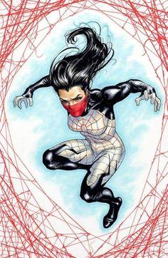 Let's take a better look at the newest -- and best -- Marvel comic book web-slinger -- Korean-American heroine Cindy Moon aka Silk! Marvel Comics Art, Marvel Comic Books, Marvel Heroes, Comic Books Art, Comic Art, Marvel Comic Character, Marvel Characters, Character Art, Spiderman Art