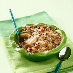 Découvrez la recette Crumble à la rhubarbe sur cuisineactuelle.fr.