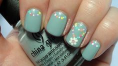 Simple Flower Chain Nail Art by ArcadiaNailArt Nail Art Gallery nailartgaller . - Simple Flower Chain Nail Art by ArcadiaNailArt Nail Art Gallery nailartgaller - Green Nail Designs, Flower Nail Designs, Flower Nail Art, Easy Nail Art, Cool Nail Art, Nail Art Dessin, Cute Nails, My Nails, Hippie Nails