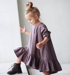 Baby Dress Design, Baby Girl Dress Patterns, Little Girl Dresses, Baby Dresses, Dress Girl, Little Girl Fashion, Kids Fashion, Toddler Outfits, Kids Outfits