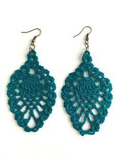 Teal Chandelier Crochet Earrings                                                                                                                                                                                 More