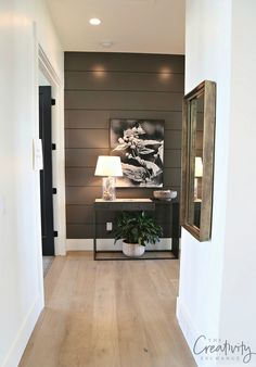 Salt Lake City Parade of Homes 2017 Recap – The Creativity Exchange Salt Lake City Parade of Homes 2017 Recap Accent wall color is Benjamin Moore Kendall Charcoal Home Design, Flur Design, Design Hotel, Home Renovation, Home Remodeling, Desgin, Painting Shiplap, Painting Walls, Accent Wall Colors