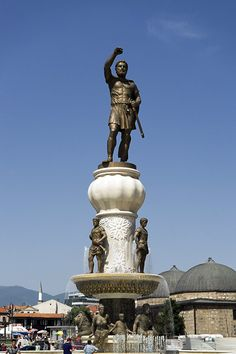 The fountains of Skopje, Macedonia.