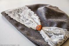 Kotvasia: lokakuu 2014 Sewing Tips, Sewing Hacks, Handicraft Ideas, Recycling, Hat, Stuff Stuff, Felt Hair Accessories, Turbans, Dressmaking