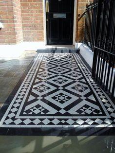 Victorian Mosaic Portfolio - London Victorian Mosaic Tile Quality Mosaic Tile Path in London and SE England