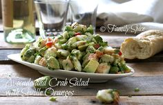 Avocado and Crab Salad with Seville Oranges by @Laura | Family Spice #februaryybr