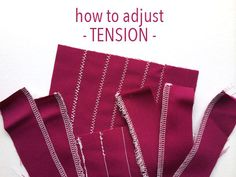 Learn how to adjust the tension on your sewing machine — plus what an ideal stitch should look like — for perfectly sewn seams, edges & more!