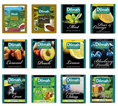 Dilmah Gourmet Green Tea Fun Tea Tea Sampler 12 Different Varieties 5 Tea Bags Each Single Origin 100 Pure Ceylon 4 Green Teas 4 Pure Black Teas 4 Fun Flavor Black 60 Foil Enveloped Tea Bags Pack of 60 ** Want to know more, click on the image.
