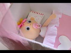 Cómo hacer un bebe con cuna de foamy o Goma Eva - YouTube