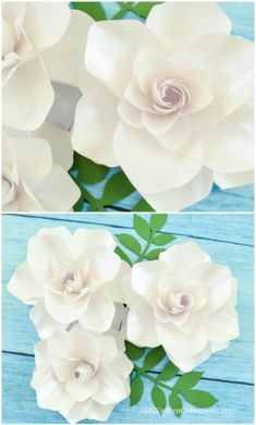 How to DIY paper gardenia flowers. How to DIY paper gardenia flowers. How to DIY paper gardenia flowers. How to DIY paper gardenia flowers. Large Paper Flowers, Tissue Paper Flowers, Paper Flowers How To Make, Flower Paper, Paper Flowers Wedding, Tissue Paper Roses, Mason Jar Crafts, Mason Jar Diy, Handmade Flowers
