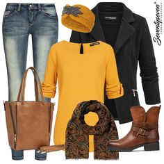 Hol dir dieses Outfit für nur 161,93 €! Autumn Fashion Casual, Fall Fashion Outfits, Curvy Outfits, Winter Outfits, Casual Outfits, Womens Fashion, Business Professional Attire Women, Business Outfits, Outfit Combinations