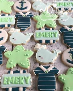 #nauticalbabyshower #nauticalcookies Thank you to @lc_sweets for allowing me to use her beautiful design! #decoratedcookies…