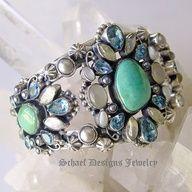 Vintage green blue ring