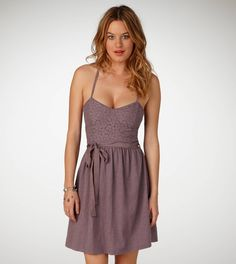 American Eagle lace corset dress