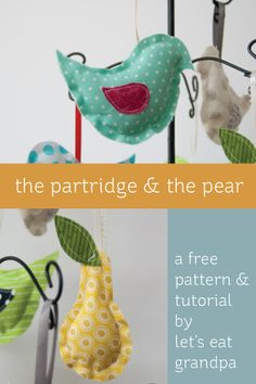 The Partridge & The Pear: Free Sewing Pattern and Tutorial