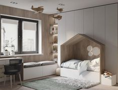 You have a nice living room but no room? And if you partition your living room to create this room you dream? How to create two separate spaces in a room without heavy work? Kids Bedroom Designs, Kids Room Design, Baby Room Decor, Bedroom Decor, Bedroom Ideas, Bed In Closet, Kids Bedroom Furniture, Outdoor Furniture, Furniture Ideas