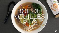 Bol de nouilles pho Pho, Food And Drink, Rice, Chicken, Comme, Soups, Japanese Cuisine, Noodles, Healthy