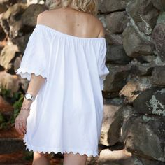 Alter a basic t-shirt into the cutest and coolest summer dress with this simple DIY.