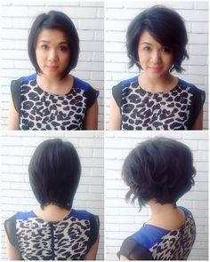 """Growing out a pixie into a """"Dominique Sachse"""" bob  #beforeandafter #hair…"""