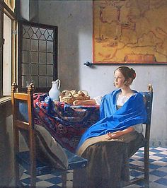 """Girl in Hyacinth Blue"" ~ Jonathan Janson in the style of Vermeer"