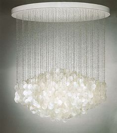 #capizShell hanging ceiling mount fixture by tL* custom lighting