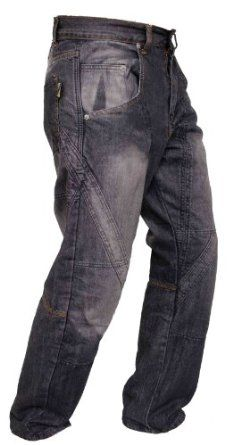 Mens Classic Motorbike Motorcycle Biker Trousers Pants Jeans with Protective Lining,Blue,M