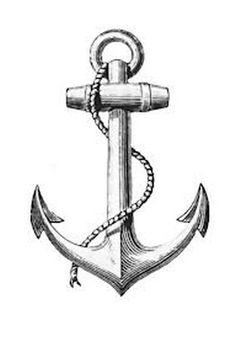 anchor tattoo (Crusafix) + rope (Hale Marys) holds together 'nautical rosary' + the (Glory Be) centerpiece is a ships wheel