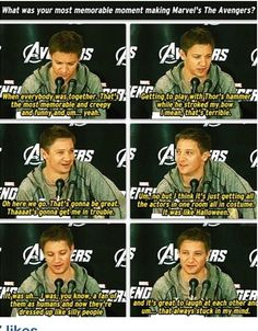Jeremy Renner at The Avengers Interview Panel
