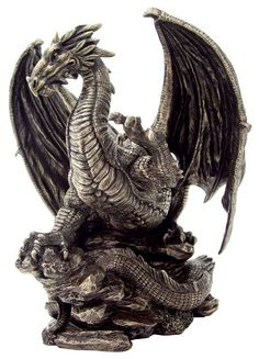 Like the shape of this one's head, body, and wings. Powerful dragon