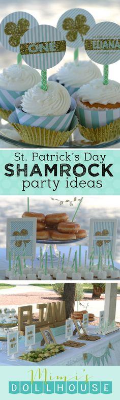 St. Patrick's Day: Eliana's Mint Shamrock Party   Mimi's Dollhouse